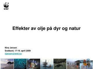 Effekter av olje p� dyr og natur