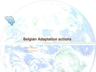 Belgian Adaptation actions