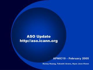ASO Update aso.icann