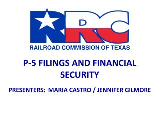 P-5 FILINGS AND FINANCIAL SECURITY