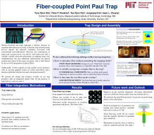 Fiber-coupled  Point Paul Trap