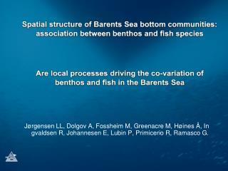 Benthos – fish species  associations