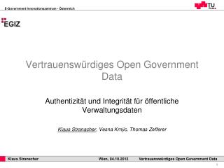 Vertrauensw�rdiges Open Government Data