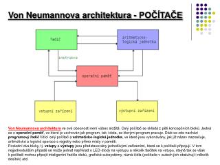 Von Neumannova architektura - POČÍTAČE