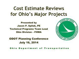 Cost Estimate Reviews  for Ohio's Major Projects