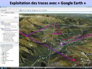 Exploitation des traces avec «Google  Earth »
