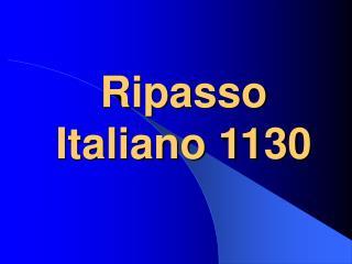 Ripasso Italiano 1130