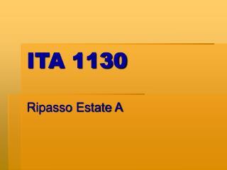 ITA 1130