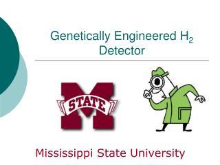 Genetically Engineered H 2  Detector
