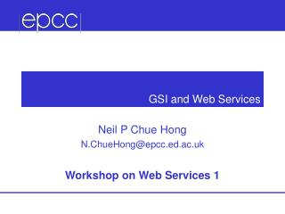 GSI and Web Services