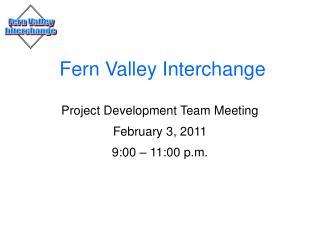 Fern Valley Interchange