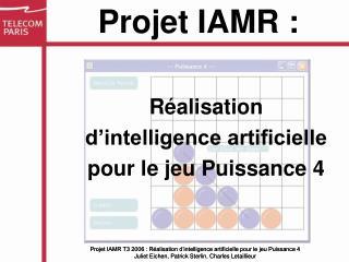 Réalisation d'intelligence artificielle pour le jeu Puissance 4