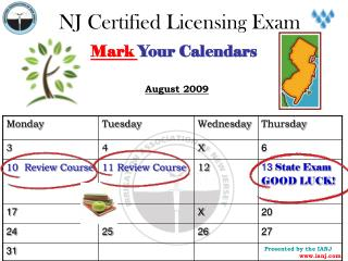 NJ Certified Licensing Exam