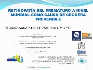 Retinopatía del prematuro a nivel mundial como causa de ceguera prevenible