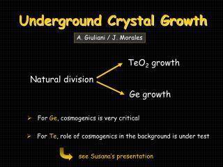Underground Crystal Growth