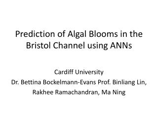 Prediction of Algal Blooms in the Bristol Channel using ANNs