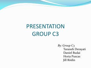 PRESENTATION  GROUP C3
