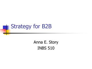 Strategy for B2B