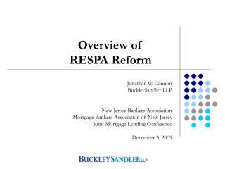 Final RESPA Reform
