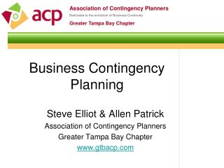 Business Contingency Planning