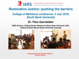 Restorative Justice: pushing the barriers