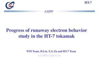 Progress of runaway electron behavior study in the HT-7 tokamak