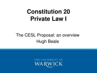 Constitution 20 Private Law I