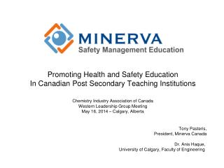 Promoting Health and Safety Education In Canadian Post Secondary Teaching Institutions