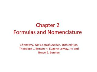 Chapter 2 Formulas and Nomenclature