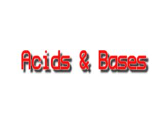 Strong acids are : HBr   HCl   HNO 3    H 2 SO 4