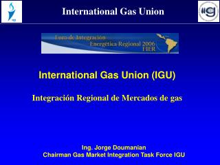 International Gas Union (IGU) Integración Regional de Mercados de gas