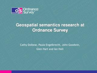Geospatial semantics research at Ordnance Survey