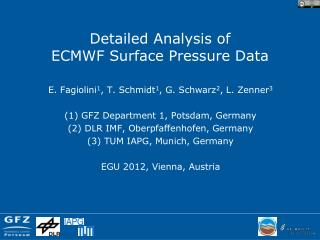 Detailed Analysis of  ECMWF Surface Pressure Data