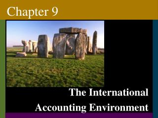 The International Accounting Environment