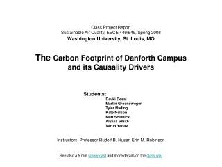 Class Project Report Sustainable Air Quality, EECE 449