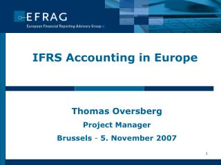 IFRS Accounting in Europe