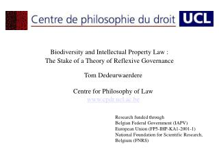 Biodiversity and Intellectual Property Law�:  The Stake of a Theory of Reflexive Governance