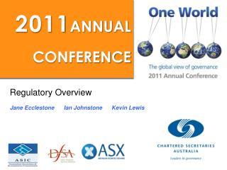Regulatory Overview Jane Ecclestone      Ian Johnstone      Kevin Lewis