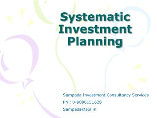 Systematic Investment Planning
