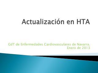 Actualización en HTA