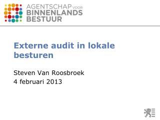 Externe audit in lokale besturen