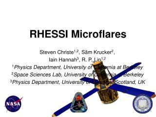 RHESSI Microflares