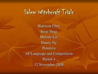 Salem Witchcraft Trials