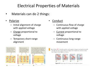 Materials can do 2 things: