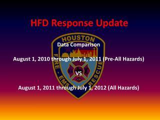 HFD Response Update