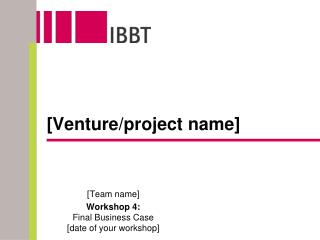 [Venture/project name]