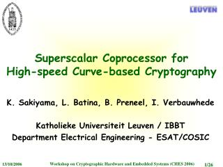 Superscalar Coprocessor for High-speed Curve-based Cryptography