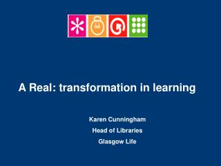 Karen Cunningham Head of Libraries Glasgow Life