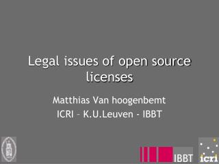 Legal issues of open source licenses