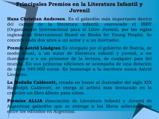 Principales Premios en la Literatura Infantil y Juvenil